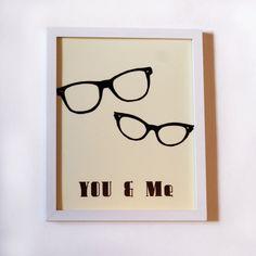 You & Me Geek Glasses Print