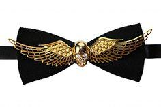 OCIA® Männer Handgefertigt Gold Schädel Und Flügel Handbu…
