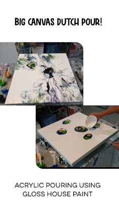 I am doing a large blowdryer pour again, I am loving this acrylic pouring, fluid art fun.