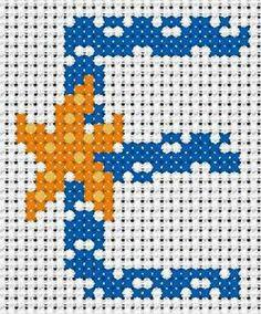 alphabet - broderie - cross stitch - E  Point de croix - Blog : http://broderiemimie44.canalblog.com/