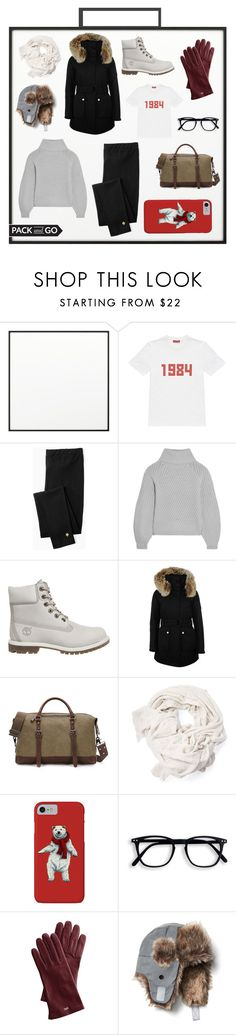 """""""Pack and Go"""" by jiwonl ❤ liked on Polyvore featuring By Lassen, Gosha Rubchinskiy, Kate Spade, Iris & Ink, Timberland, K100 Karrimor, Mark & Graham and Gap"""