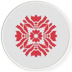 FREE for July 2nd 2016 Only - Damask Design Pattern 16 Cross Stitch Pattern