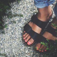 Black Arizona Sandal by Birkenstock