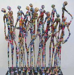 Metal and paper sculptures by Jean-François Glabik