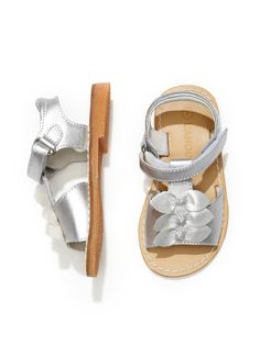Triple Bow Sandal from Spring Baby Clothes on Gilt