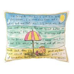 Peking Handicraft Beach Forever  Linen Lumbar Pillow