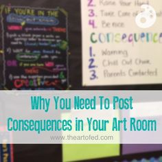 Why You Need To Post Consequences in Your Art Room