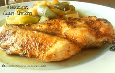 An easy and inexpensive weeknight meal. http://pattyandersonsblog.blogspot.com/2014/08/weeknight-cajun-chicken.html