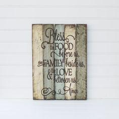 RESERVIERT für BRANDY Familie Gebet rustikal, hölzerne Schilder hergestellt aus wiedergewonnenen Palette Holz