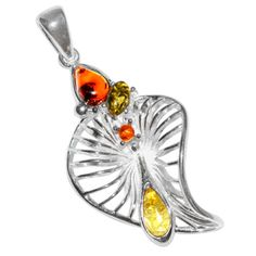 5-4g-Authentic-Baltic-Amber-925-Sterling-Silver-Pendant-Jewelry-A290