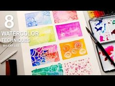 8 Watercolor Techniques for Beginners | Easy Basic Fun Art - YouTube