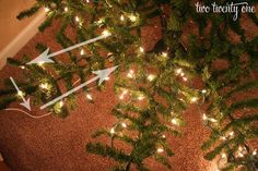 how to put lights on christmas tree  awesome method.  Don't think it will be feesable with a real tree...