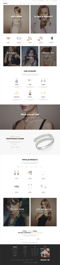Imperio is clean and modern design multipurpose #PSD template for #jewelry shop amazing #eCommerce website with 70+ layered PSD files download now➩ https://themeforest.net/item/imperio-power-multipurpose-ecommerce-psd-template/19588343?ref=Datasata
