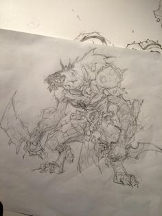 Humble beginnings. Hehe. Check out the final on our devblog! http://www.battlechasers.com/blog @AirshipSyn #Battlechasers