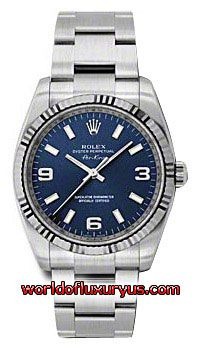 This Rolex Oyster Perpetual Air-King White Gold Mens Watch, 114234 blao features 34 mm Stainless Steel case, Blue dial, Sapphire crystal, Fixed bezel, and a Stainless Steel bracelet. - See more at: http://www.worldofluxuryus.com/watches/Rolex/Air-King/114234-BLAO/641_752_6295.php#sthash.HZFiEp76.dpuf