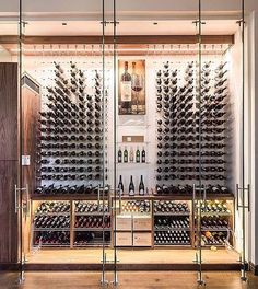 15 Incredible Home Wine Cellars For The Wine Connoisseur Cave A Vin Design, Architecture Restaurant, Home Wine Cellars, Wine Cellar Design, Wine Cellar Modern, Wine Display, Wine Wall, Wine Cabinets, Wine Fridge