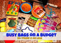 Easy Busy bags for under $1 plus rules of thumb on how to make them most useful | ALLterNATIVElearning