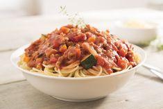 Een overheerlijke spaghettisaus, die maak je met dit recept. Smakelijk!