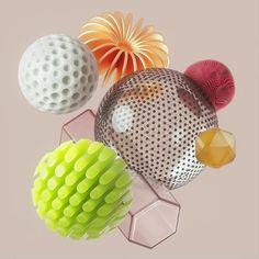Material Objects on Behance Creators Project, 3d Artwork, 3d Artist, Wire Art, Dota 2, Toy Store, Art Sketchbook, Motion Design, Graphic Design Illustration