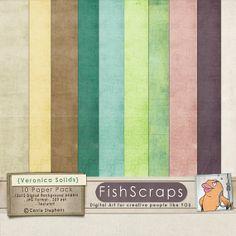 Digital Scrapbook Papers Veronica Solids Textured by FishScraps, $4.00