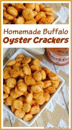 Homemade Buffalo Oyster Crackers Want a quick, easy, and delicious game day snack recipe? Then you have to try these yummy homemade buffalo oyster crackers! They're great party snacks! Savory Snacks, Easy Snacks, Yummy Snacks, Healthy Snacks, Delicious Appetizers, Healthy Breakfasts, Protein Snacks, Dinner Healthy, High Protein