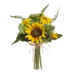 """RAZ Sunflower Bouquet  Made of Polyester Measures 13"""""""