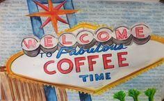 Tamara Morales #coffeeloverscollage #watercolor #artwork #klatch #coffee