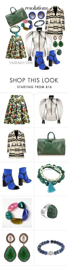 """""""#PolyPresents: New Year's Resolutions"""" by hope-jay ❤ liked on Polyvore featuring Oscar de la Renta, French Connection, Louis Vuitton, Stephen Good London, John Lewis, Carousel Jewels, Tateossian, Dolce&Gabbana, contestentry and polyPresents"""
