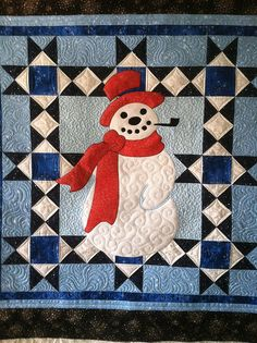 Cute snowman quilt.