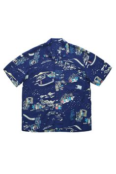 Porter Classic ★★★ - ALOHA SHIRTS - NAVY - EXCLUSIVE