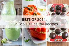 A recipe roundup to close out 2014! My top 10 recipes of the year: smoothies, casseroles, desserts and more!