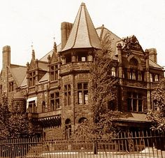 Corner View. Sylvester-Everett Mansion. Euclid Avenue and 40th St. Millionaires Row,  Cleveland OH
