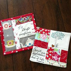 Patchwork scripture mug rugs for gifts | Flickr - Photo Sharing!