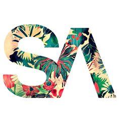 SA surfapparel.com logo jungle style #jungle #design #logo