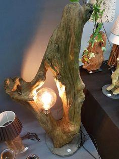 Lampe de sol Ca.110 cm Matériaux Bois Granit