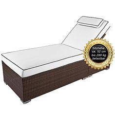 Verona POLY RATTAN GARDEN POOL SUN LOUNGER SUN BED DECK CHAIR usable up to 200 kg, Verona High