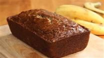 Banana Bread w/ applesauce. I only used 1/2 cup sugar, added 1/2 tsp nutmeg, used one whole egg and 1/3 cup applesauce. Added 1tsp vanilla extract and 1/4 tsp salt. I also added 1/4 cup chopped nuts. Everyone loved it!
