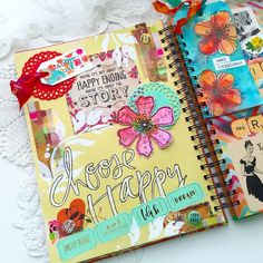 Choose Happy scrapbook and colours