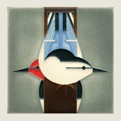 """6x6 Charley Harper """"Upside Downside"""" art tile by Motawi. Couldn't go wrong with this. It's even right for the range of the birds."""