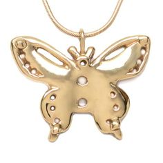18K Gold Plated Butterfly Pendant Necklace 18 inch L by Michele Benjamin