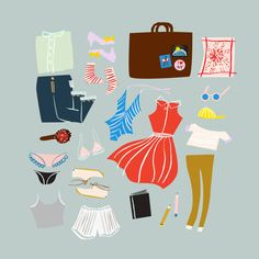 Packing For a Weekend Away - Emily Isabella #illustration #style