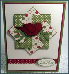 Stampin Up Bird Punch Christmas Cards | Stampin' Up! – Stamp a Stack…. | craftingcottage
