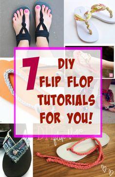 7 DIY Flip Flop Tutorials for you!