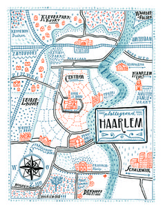 Illustration map Haarlem by Floor Rieder. Draw Map, Map Design, Graphic Design, Urbane Analyse, To Do Planner, Map Projects, Art Carte, Information Design, Travel Maps