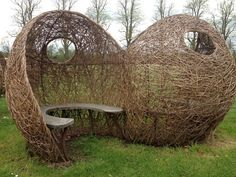 ★☯★ need a #love #nest ?... hey here is ★☯★  .  #OMG #inspirational #inspiration #tips #Trick #Goodies #Stuff #weird #bizarre #Strange #Odd #unusual #Fun #Funny #amazing  #Willow #pods by Tom Hare ~ Willow Man