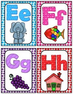 Free Here Is A Cute Set Of Alphabet Cards For Your Classroom