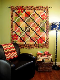 love the border on this quilt
