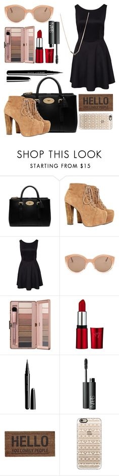 """""""First Date Outfit<3"""" by evrianthi ❤ liked on Polyvore featuring Mulberry, Illesteva, Marc Jacobs, NARS Cosmetics, Casetify and Michael Kors"""