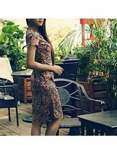 Luxury women dress: floral & vintage qipao dress - vintage qipao - elegente.com