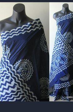 Indigo cotton sarees Ethnic Fashion, Womens Fashion, Shoulder Dress, One Shoulder, Cotton Saree, Sarees, Weave, Indigo, Blouse